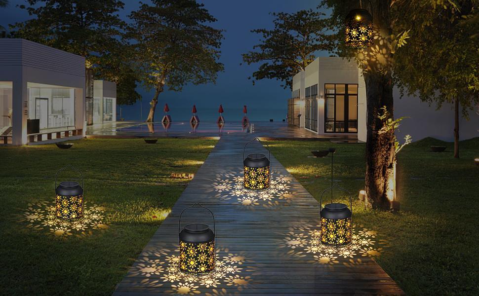 Tomshine Outdoor Lantern Warm White Waterproof