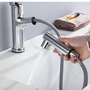 Pull Out Lavatory Basin Faucet Bar Sink Faucet