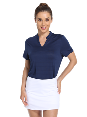 collarless polo golf shirt women shortsleeve dri fit quick dry tennis badminton