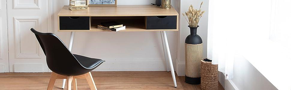 Bureau et chaise scandinave ambiance