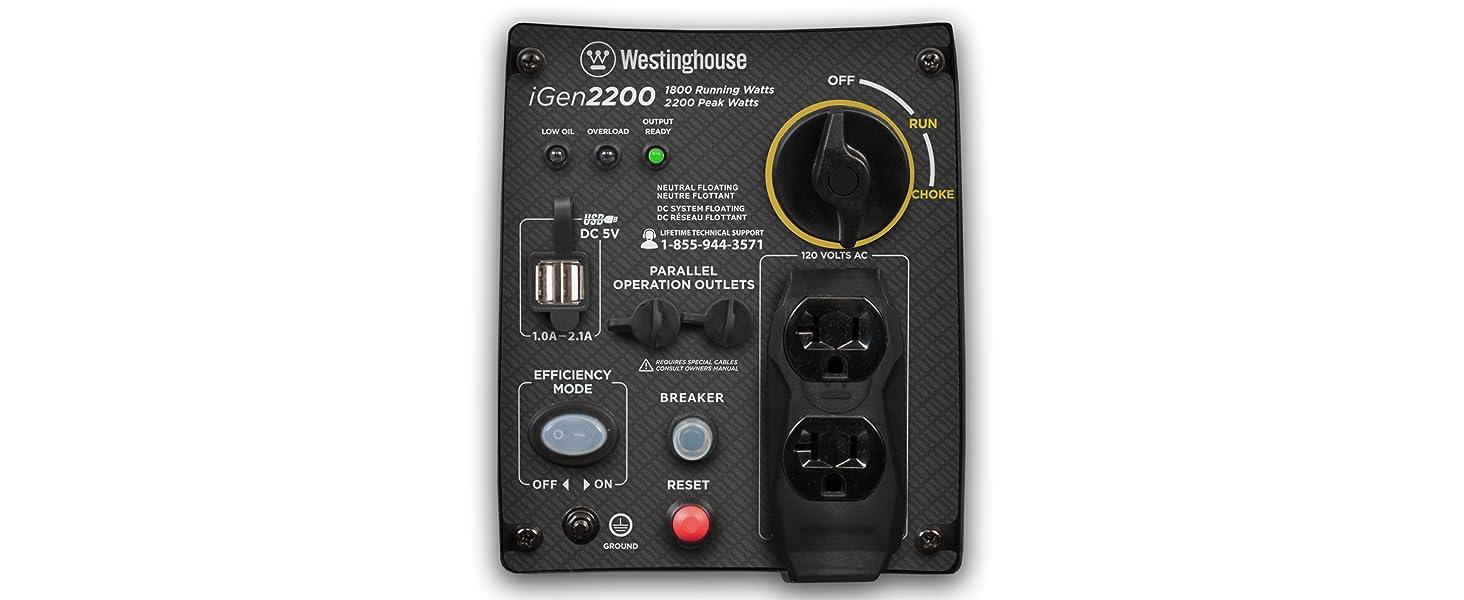 iGen2200 control panel