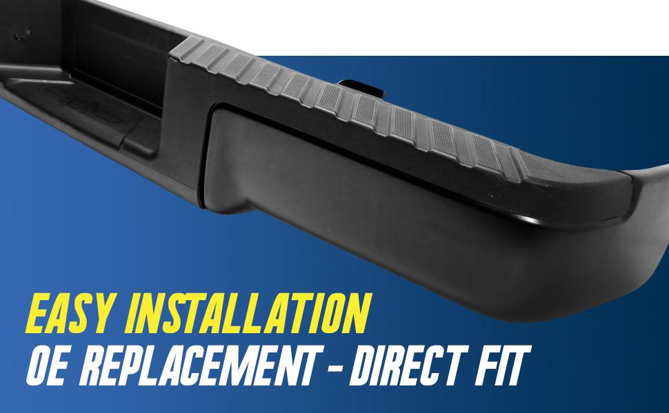 direct fit oe replacement step bumper