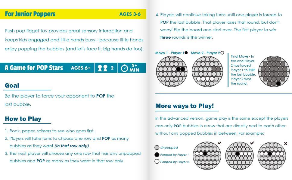 Push POP sensory toys How to play.