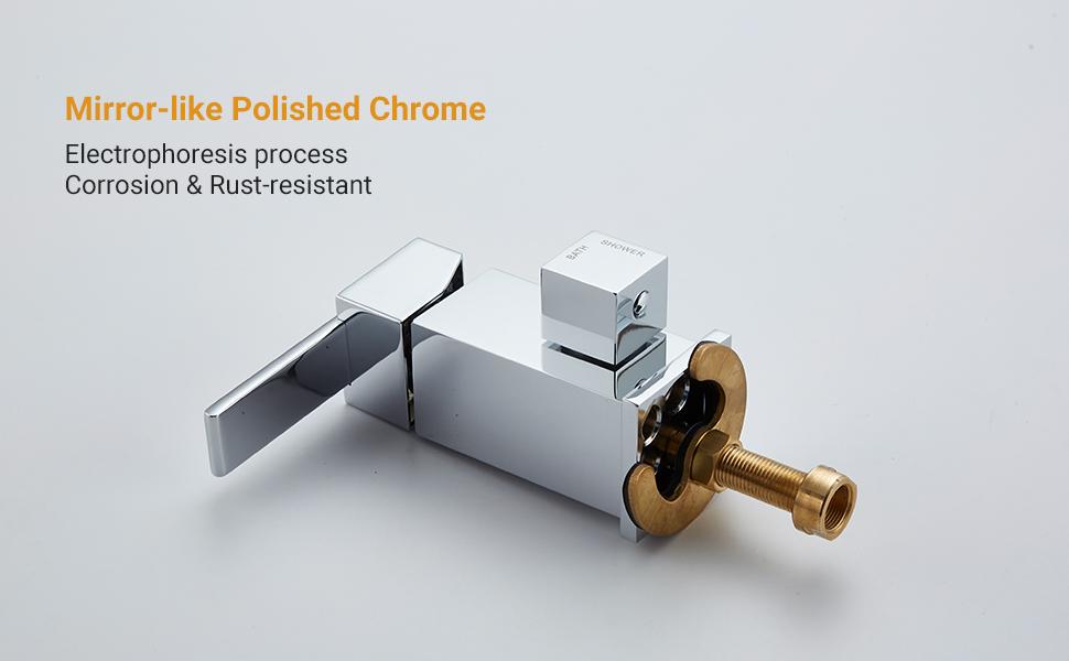 Polished Chrome Bathtub Faucet