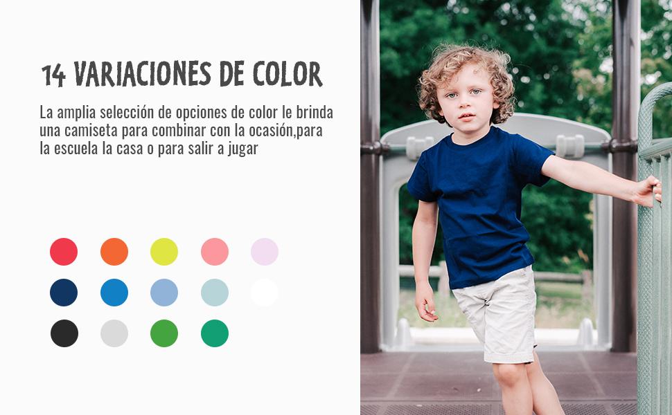 14 variaciones de color