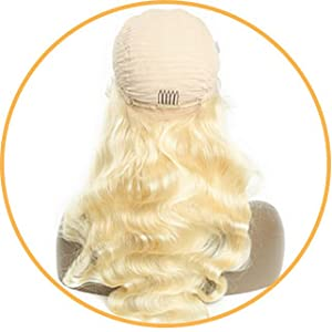 613 Blonde Lace Front Wigs Human Hair 13x4 Pre Plucked 613 Lace Frontal Wig with Baby Hair
