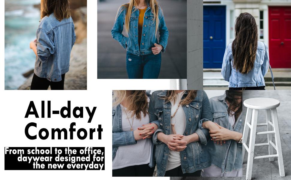 fashionboomy denim cropped loose jacket