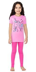 girls organic cotton 2 piece pajama set