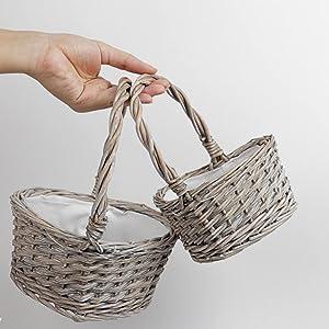 Grey heart basket