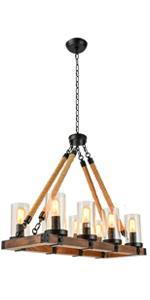 shine decor wood rectangle chandelier kitchen island