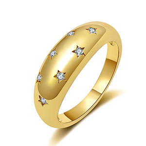 gold star dome rings