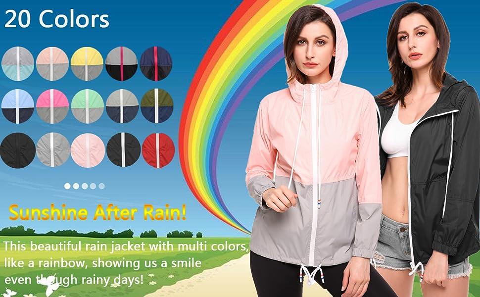 raincoat women rain jacket windbreaker outdoor jacket running jacket hiking jacket rain coats
