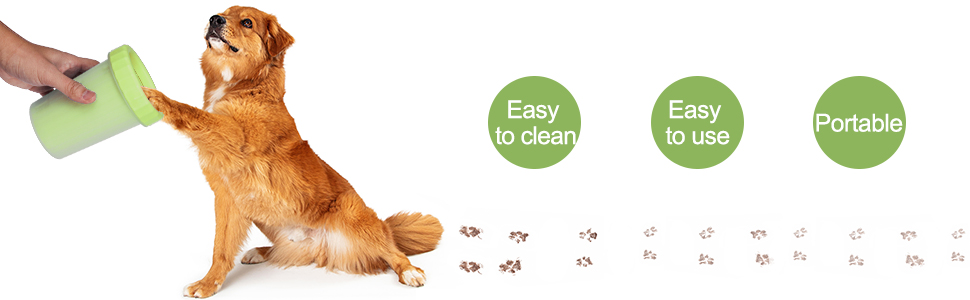 Dog Cleaner Upgrade 2 in 1 Dog Paw Cleaner