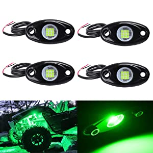 4pods green led rock light