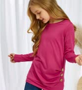 Happy Sailed Girls Short Sleeve Tunic Tops Casual Loose Soft Girls' Tops,Tees amp; Blouse Size 4-12