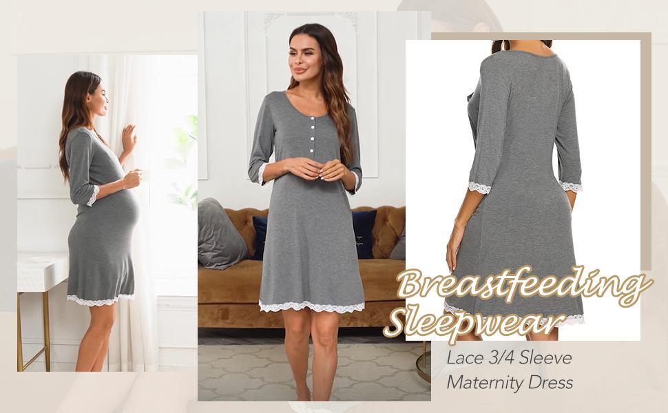 Women Button-Front Nightshirt
