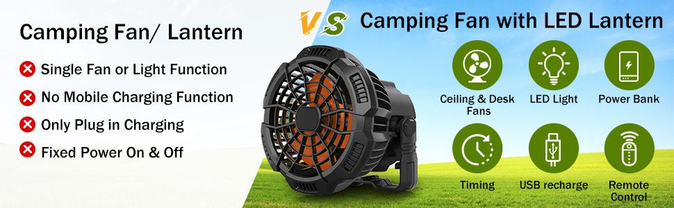 camping fan rechargeable