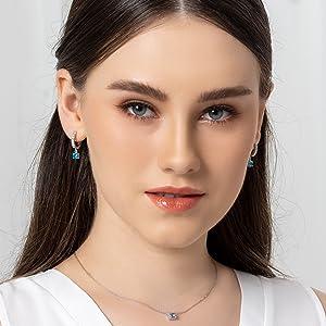 Dangle Huggie Hoop Earrings