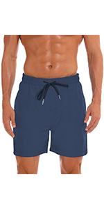 Dark Blue mens swim board shorts 7amp;#34;