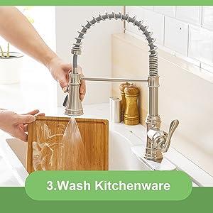 pulldown kitchen faucet