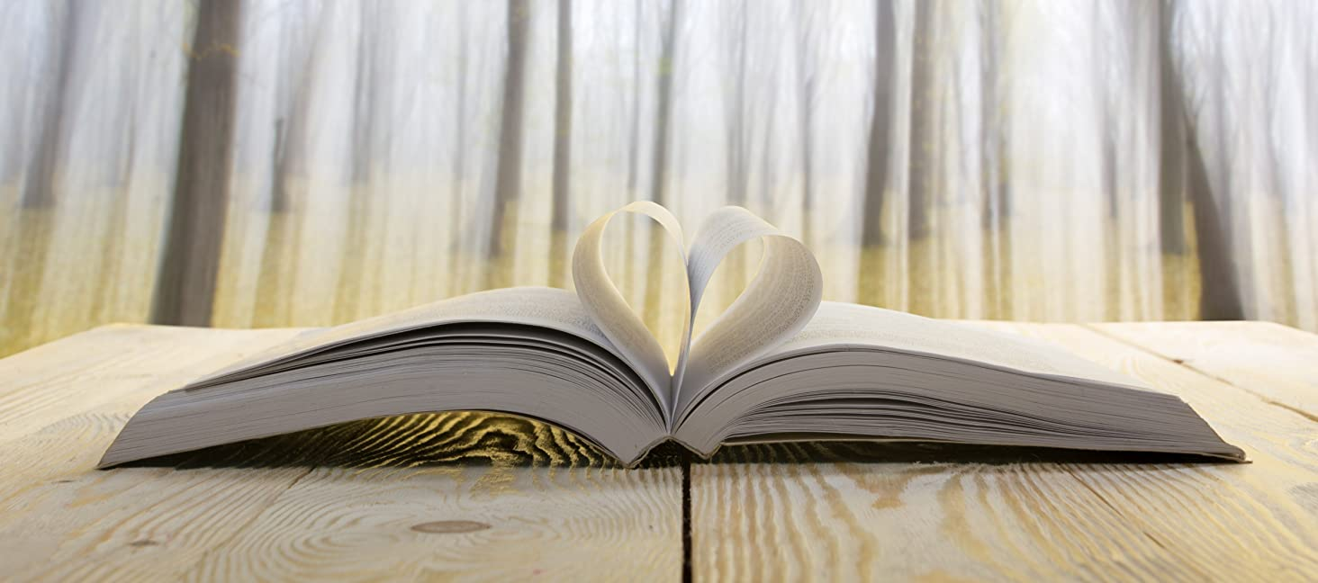 Book with Heart and Birch Trees