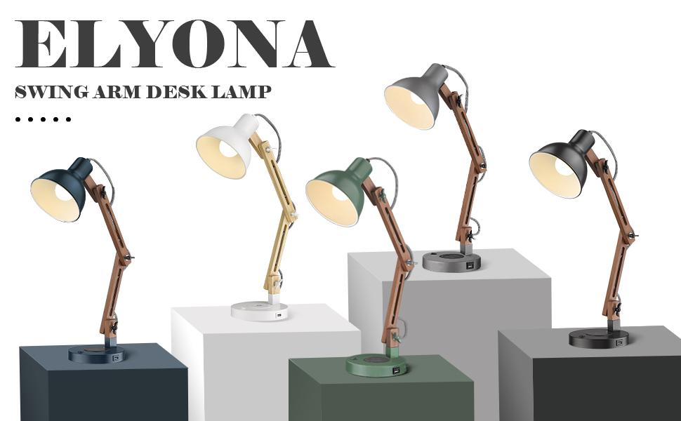 Industrial desk Lamps 5 colors black white green grey blue