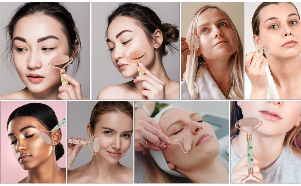 images of happy women using our products