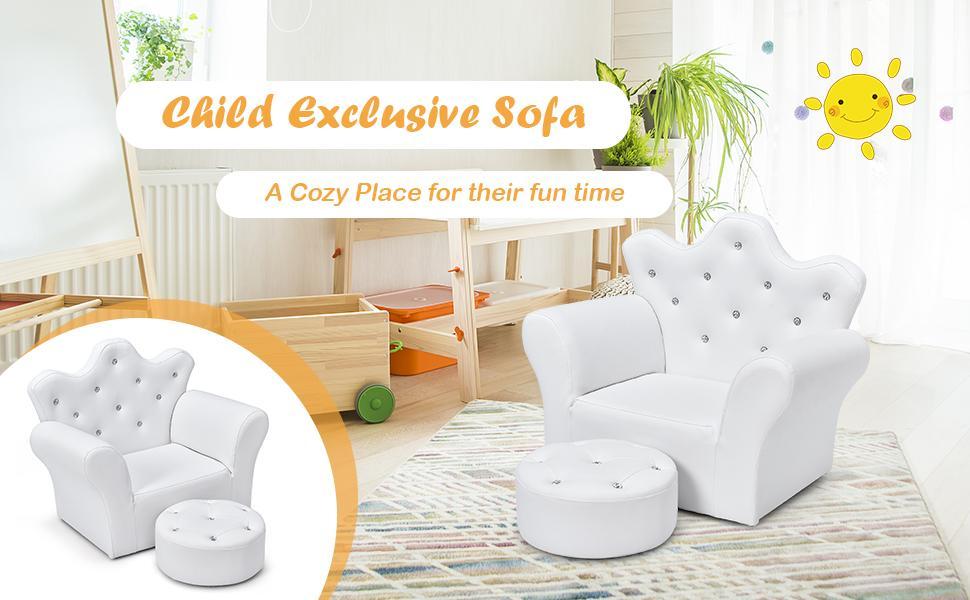kids sofa with ottoman