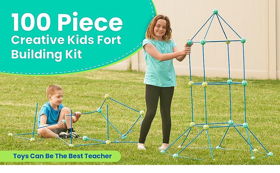 100 Piece Creative Kids Fort Building Kit