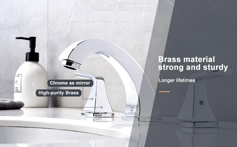 widespread bathroom faucet 8 inch