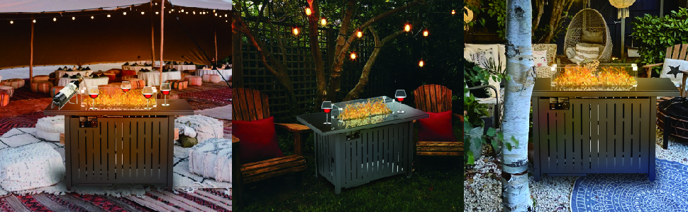fire pit propane for outside patio