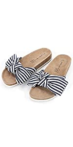 bow sandal Navy Blue