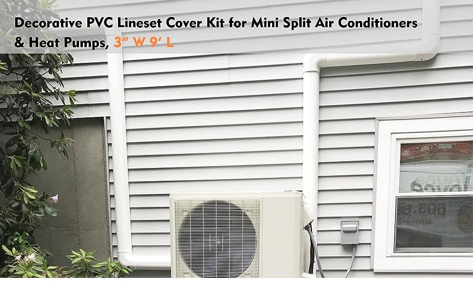 lineset cover kit 3in 9ft