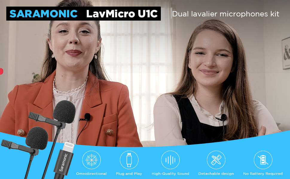 Saramonic dual lapel lightning microphone for iphone