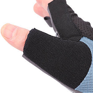 Thumb terry cloth gloves