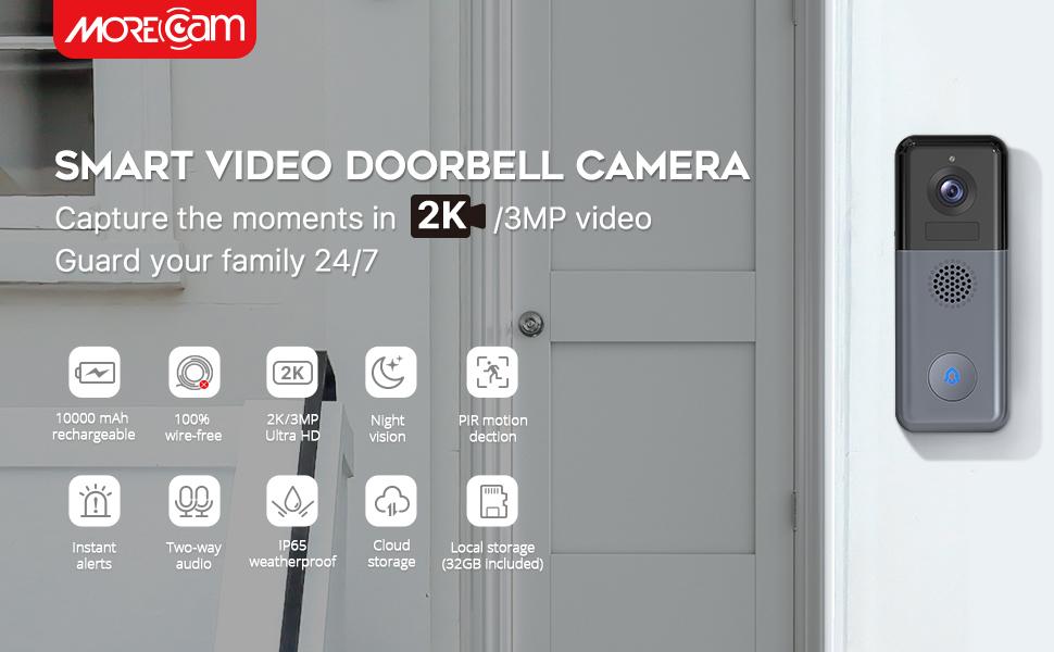 Morecam video doorbell camera