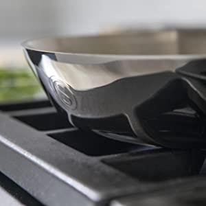 all clad d3 pan all clad drying pan stainless steel skillet 12 inch straight sided pan