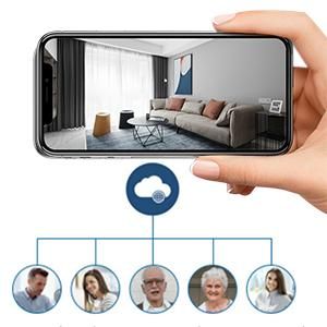WiFi camera that can connect multiple people at the same time