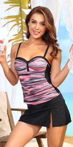 Yonique tankini swimsuits with skirts