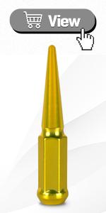 Gold Spike Lug Nuts