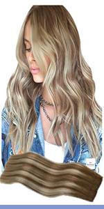 balayage hair extensions halo