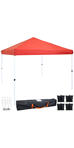 Red Standard Canopy and Sandbags