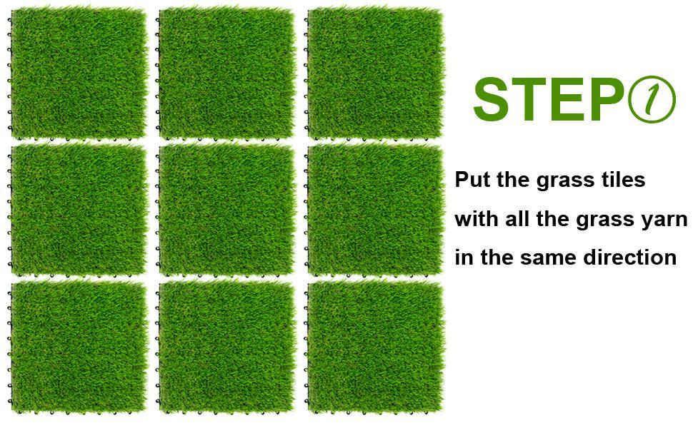 NQN Artificial Grass Tiles Installation Guide
