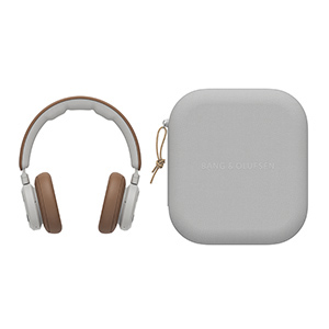 Beoplay HX over-ear headphones and their portable case