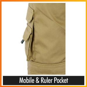 Mobile & Ruler Pocket
