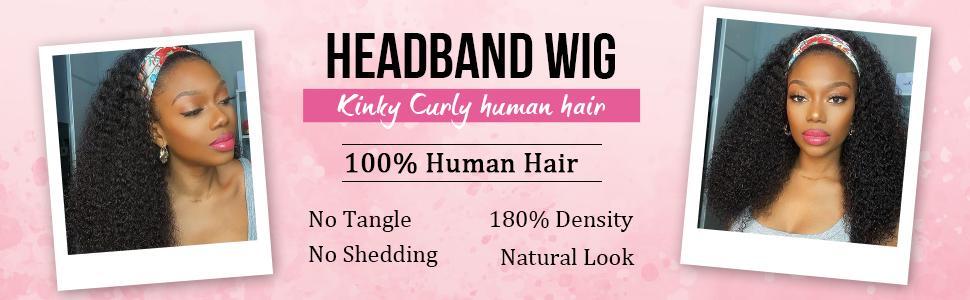 headband wig human