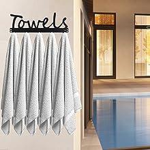 outdoor pool hook holder towel rack robe rack