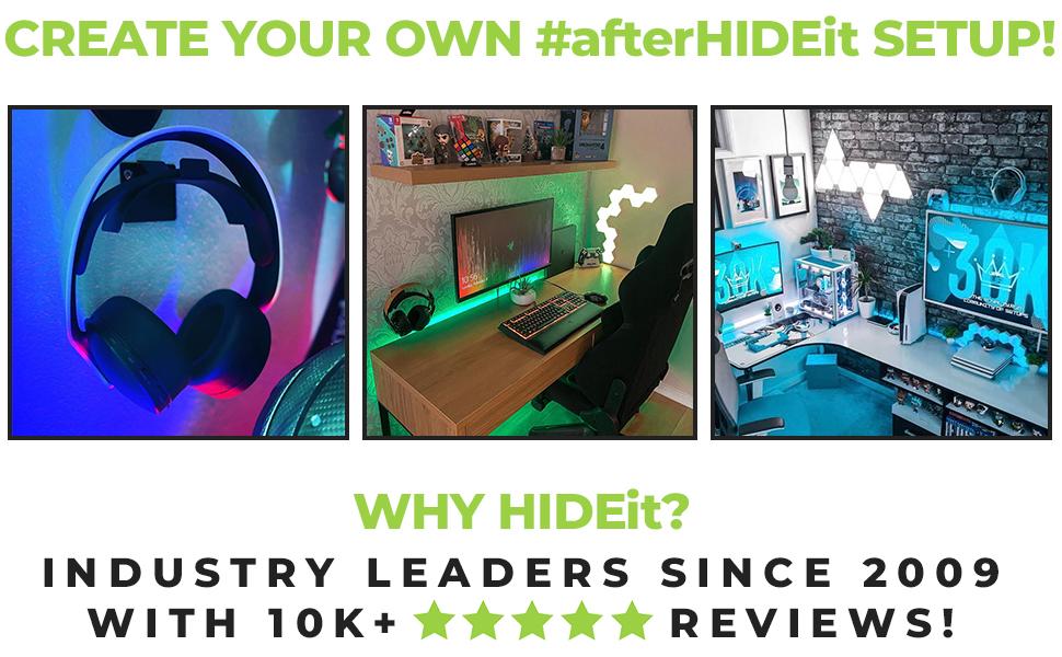 HIDEit Mounts Customer Setups. Search #afterHIDEit for more inspo