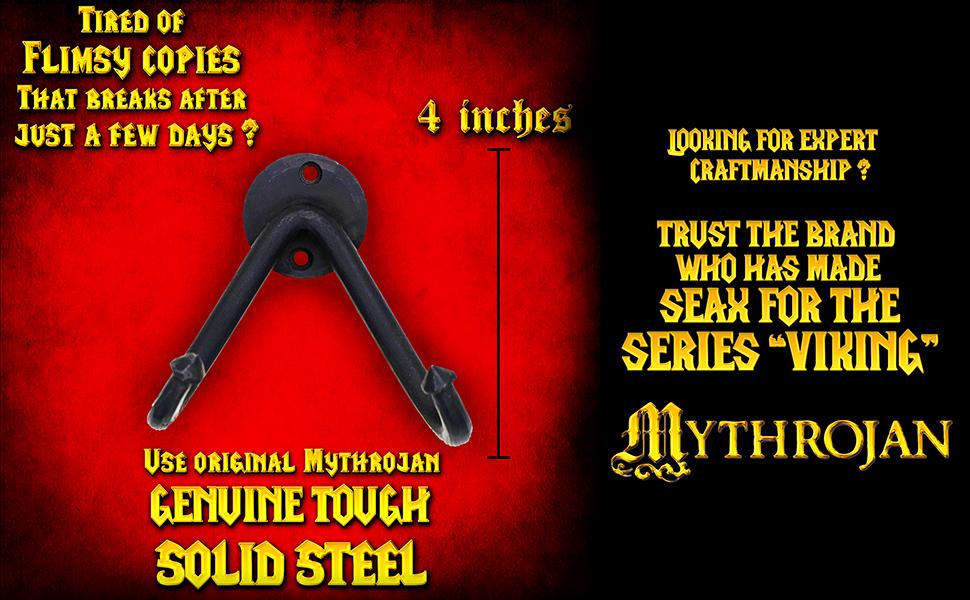 Mythrojan sword hangers wall mount katana medieval sword two handed twohanded swords