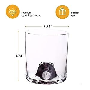 Whiskey Glass set of 2 14oz